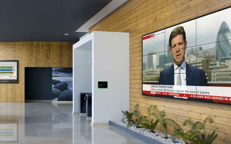 reception area video walls