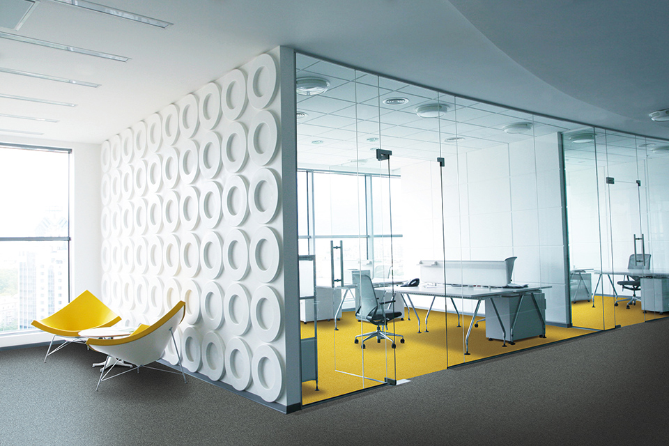 Stylish office carpet tiles
